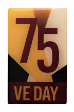 VE Day Victory in Europe 75 Years Official MOD Pin Badge